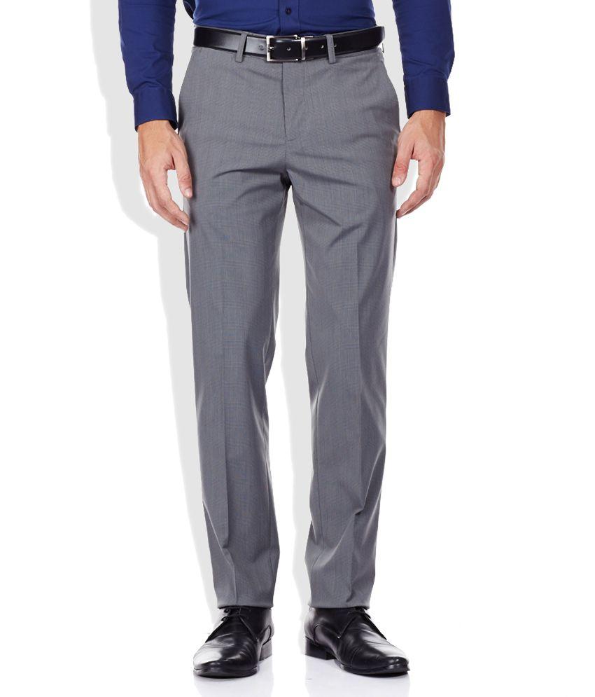 Code Gray Slim Fit Formal Trousers