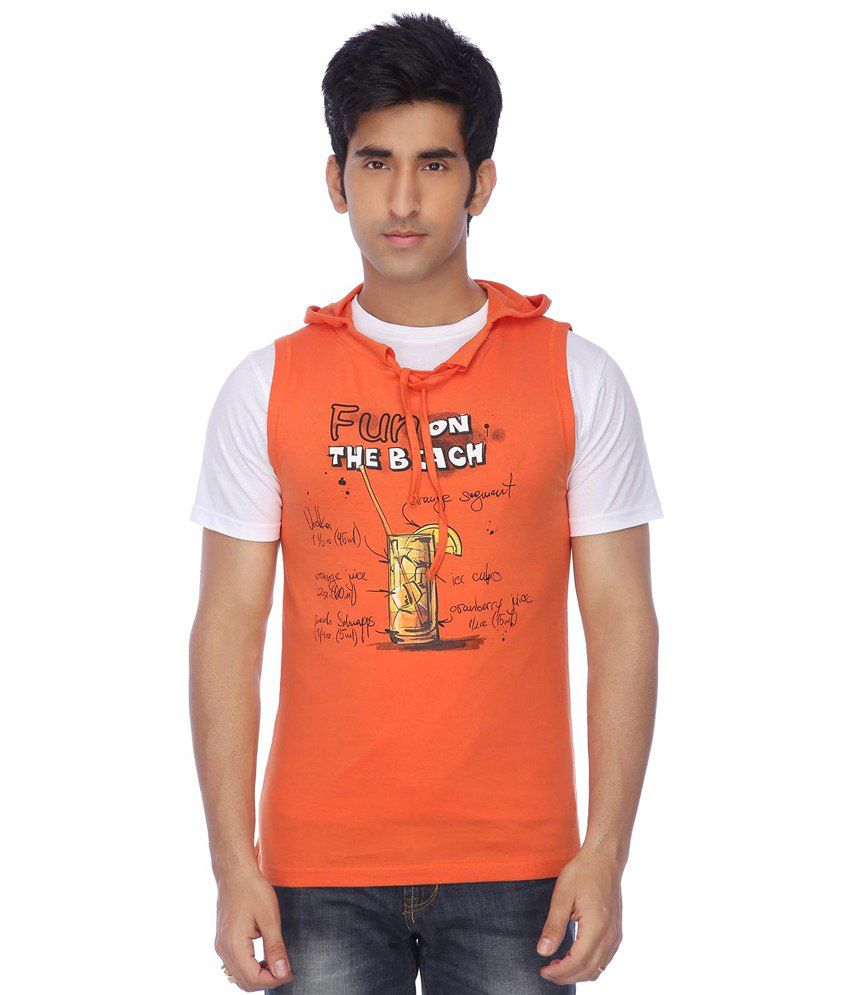 Life By Shoppers Stop Orange T-shirt