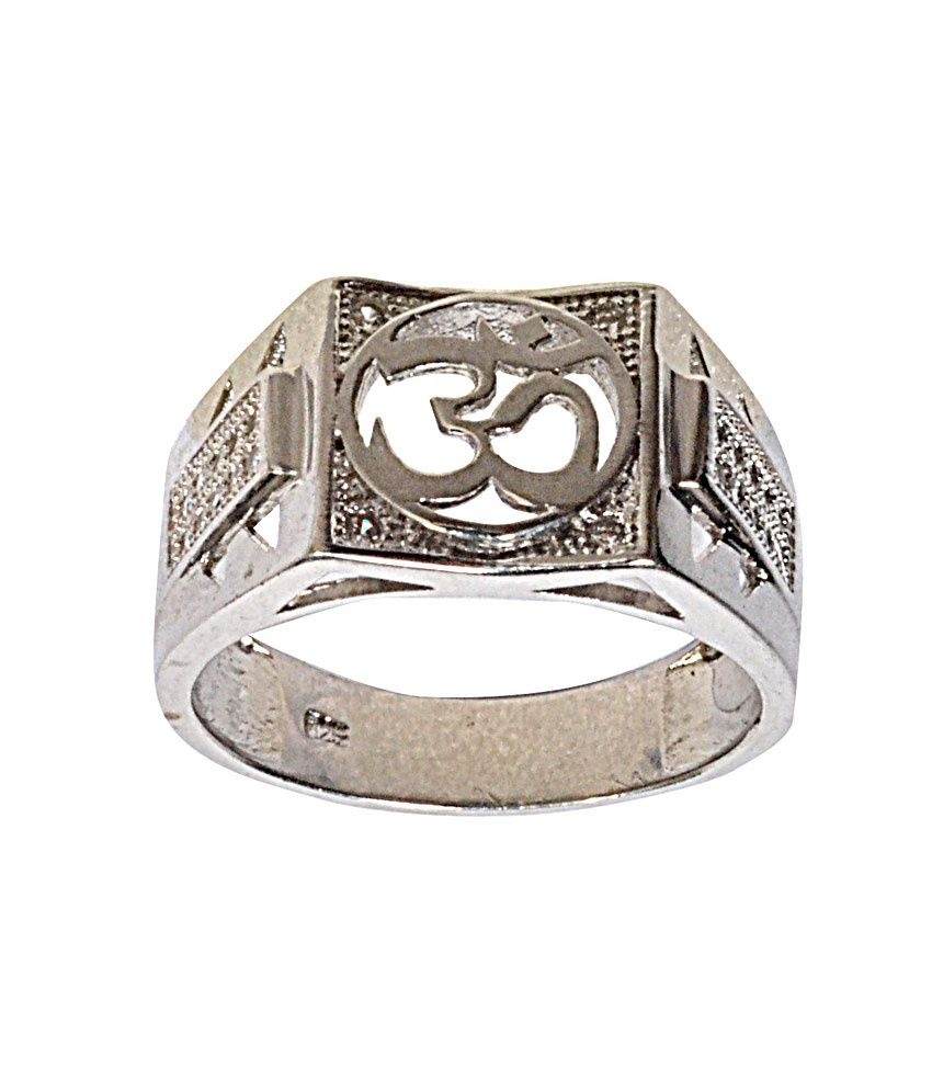 Navkaar Creation Om Ring In 925 Sterling Silver Heavy Jewelry Charm