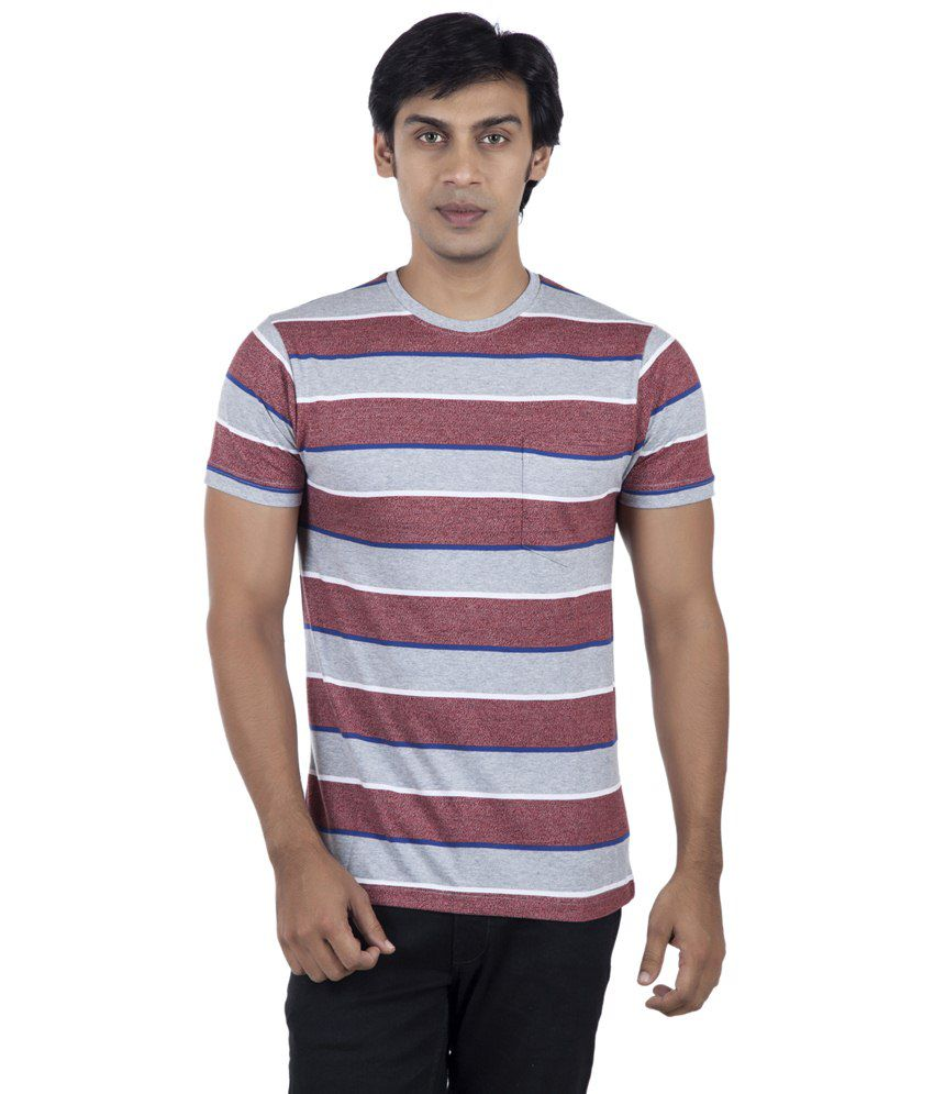 Stop By Shoppers Stop Gray & Red T-shirt