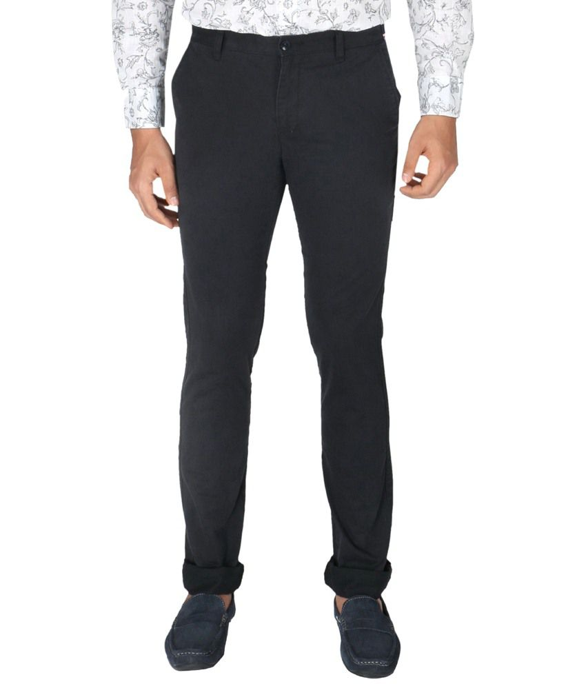 Vettorio Fratini By Shoppers Stop Black Formal Trousers
