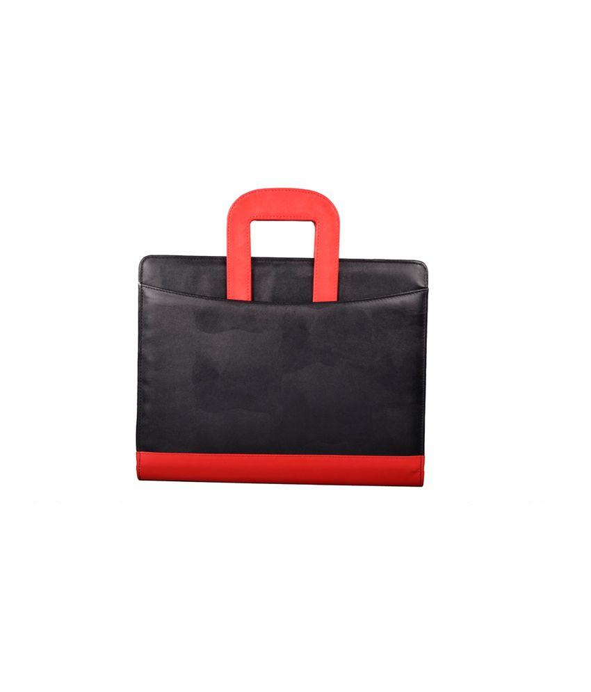 Coi Black Leatherite Briefcase Conference Document Folder