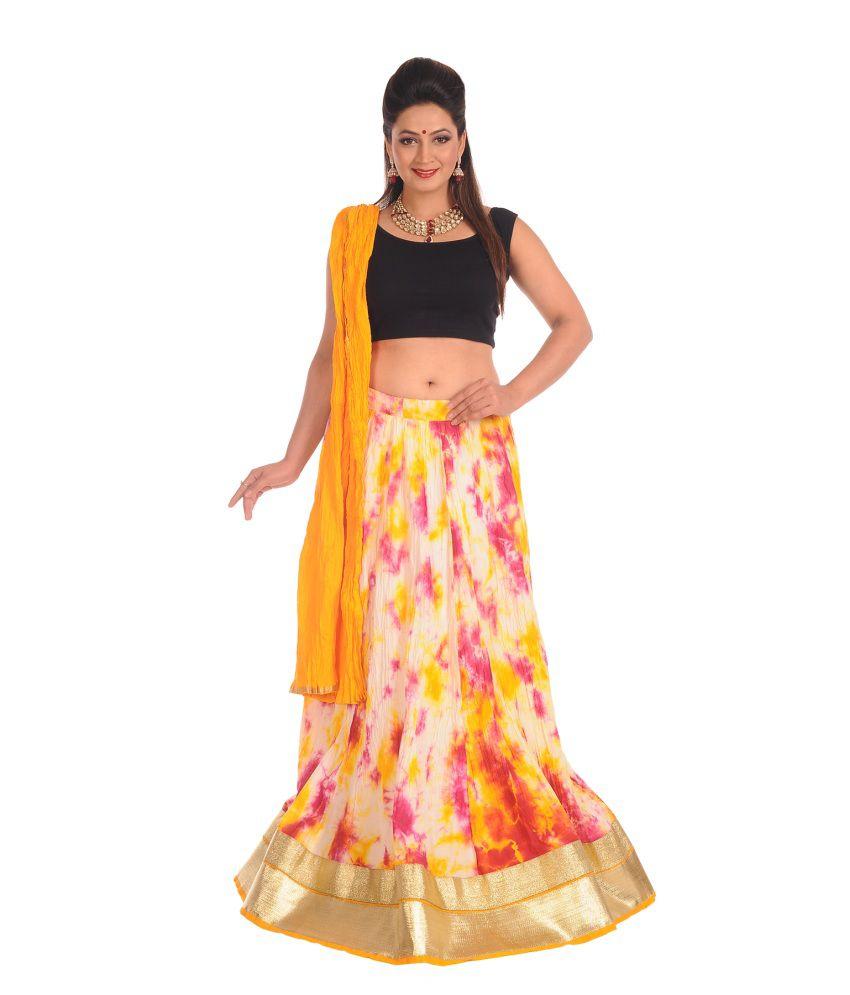 Salwar Studio Printed Cotton Long Skirt With Dupatta