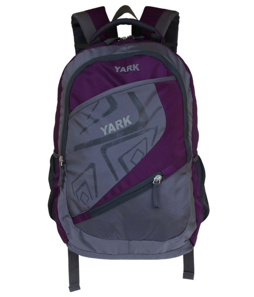 Yark Purple Polyester Laptop Compatible Backpack - Buy Yark Purple ...
