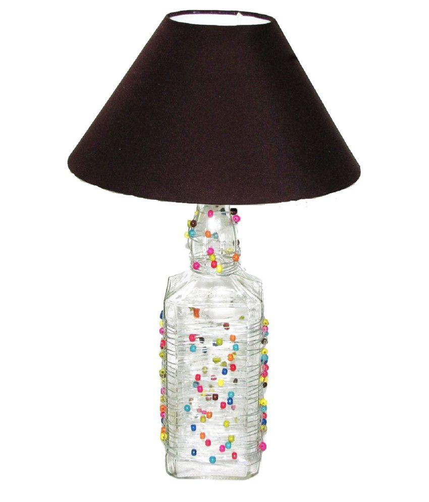 Aadhya Creations Jd Beads Fun Brown Table Lamp Buy Aadhya