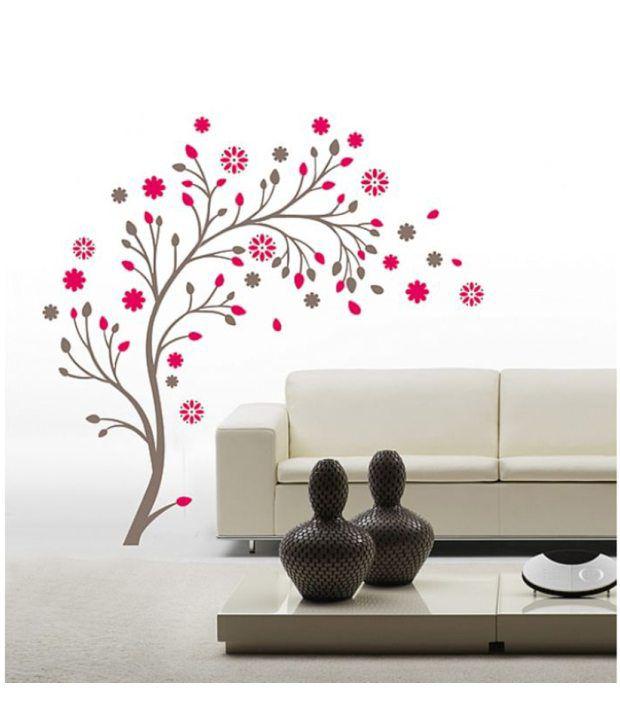 stickerskart wall stickers beautiful magic tree with flowers 7156