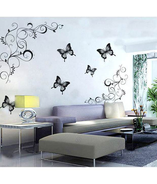 StickersKart flowers trees PVC Wall Stickers Buy StickersKart