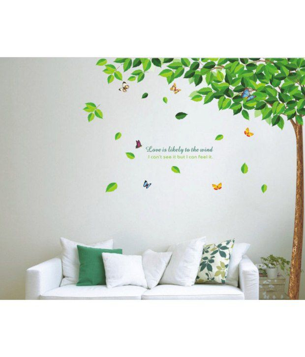StickersKart Flowers Trees PVC Multicolour Wall Stickers Buy