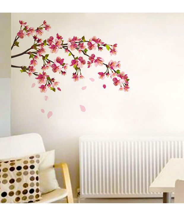 stickerskart wall stickers wall decals sakura cherry blossom 5726
