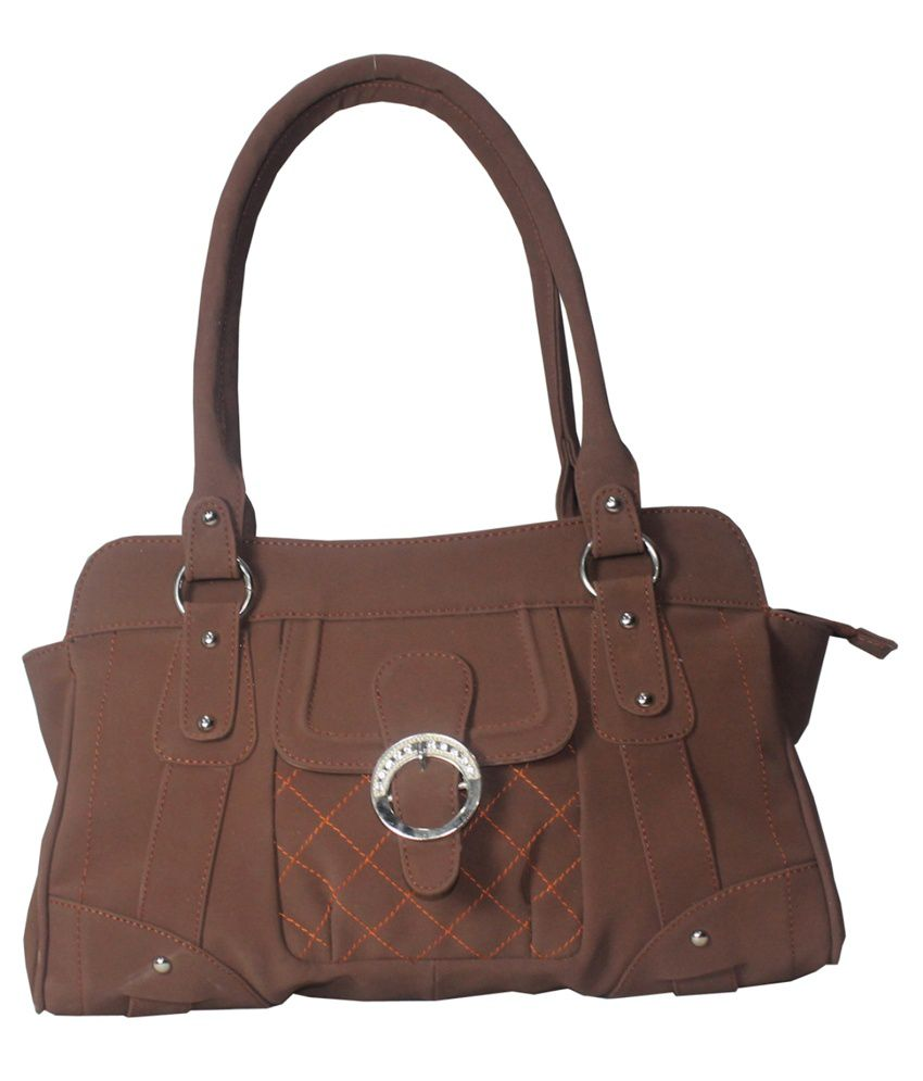 Moda Desire Brown Handbag