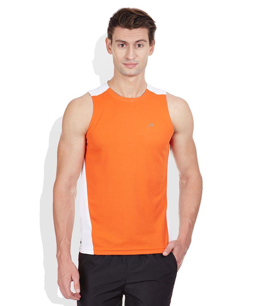 Proline Orange Round Neck T Shirt