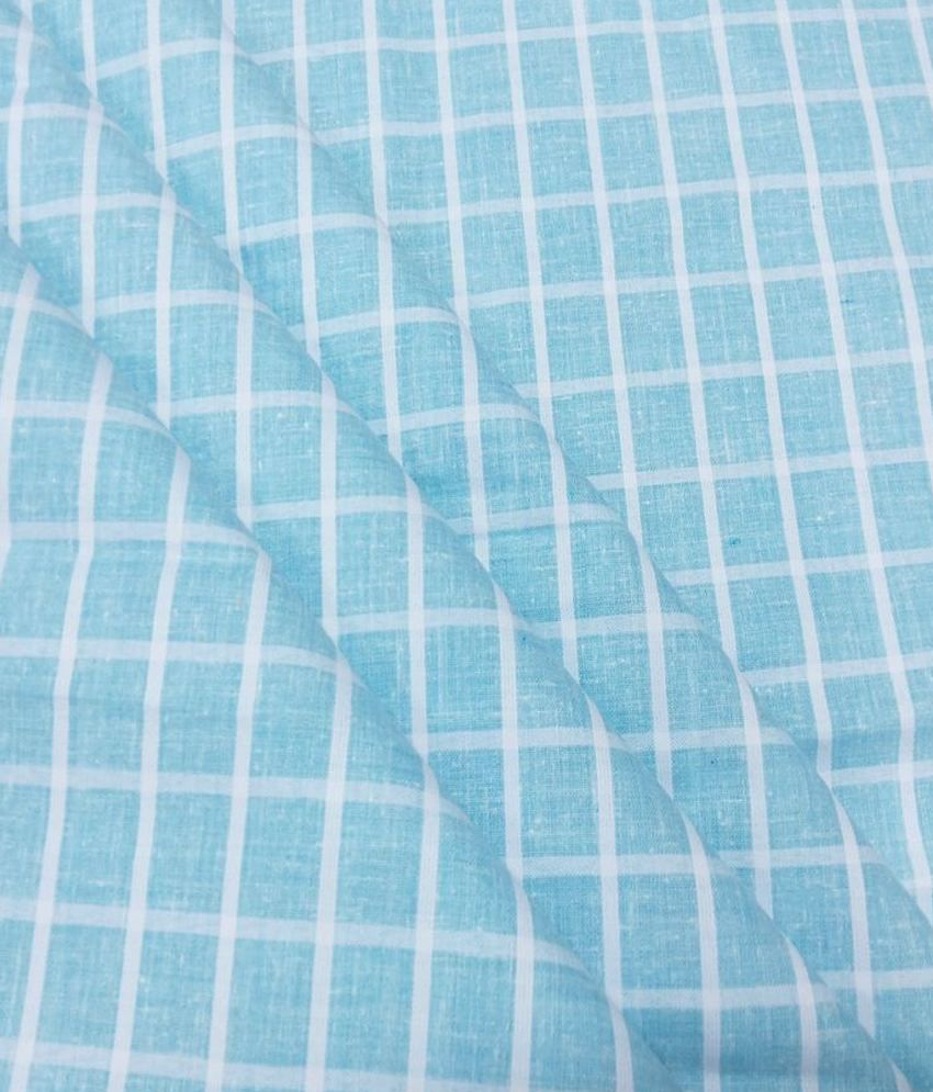 Fashion Foreplus  Cotton Blend Checkered Shirt Fabric
