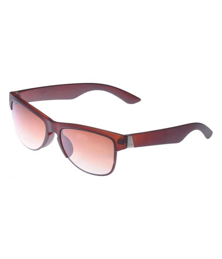 Allen Cate Round Shape Brown Sunglass