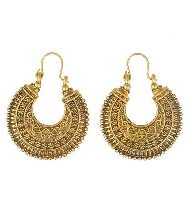 Luxor Gold Alloy Colour Spark Hoops|huggies|balis