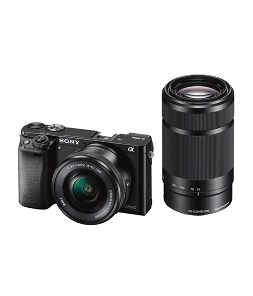 Camera Camera Sony Dslr sony alpha ilce 6000y dslr camera with selp1650 sel55210 lens