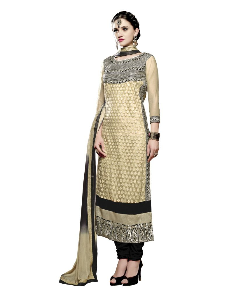 Atmiya Fashion Pure Georgette Kantha Embroidery Churidar