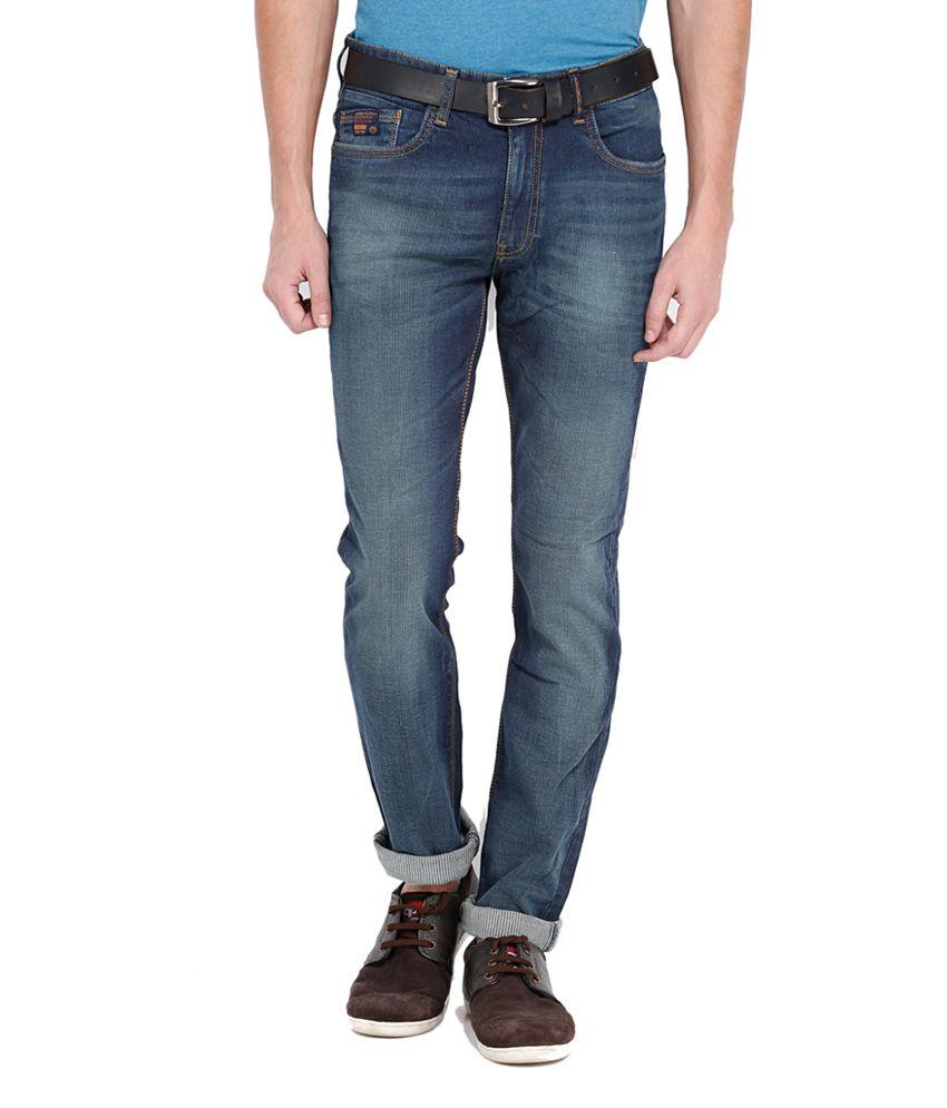 Locomotive Stylish Blue Cotton Blend Slim Fit Jeans