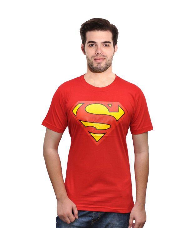 Rangifer Red Cotton Round Neck Half T Shirt