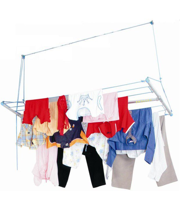 Skylift Ceiling Mounted Cloth Drying Laundry Hanger Stand