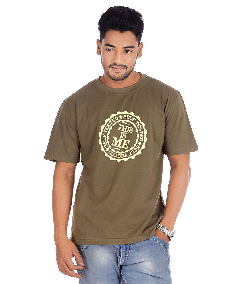 TSG Escape Men's Round Neck Printed T-shirt Green