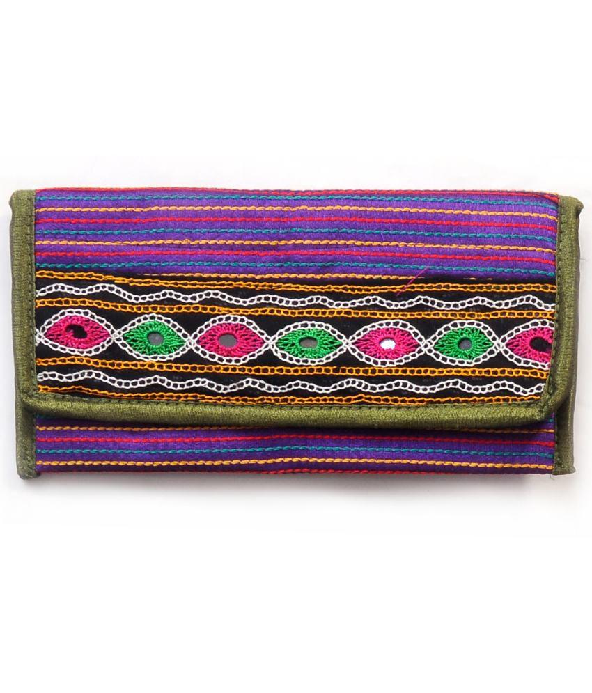 Tradition Kutchi Handwork Multicolour Clutch Wallet