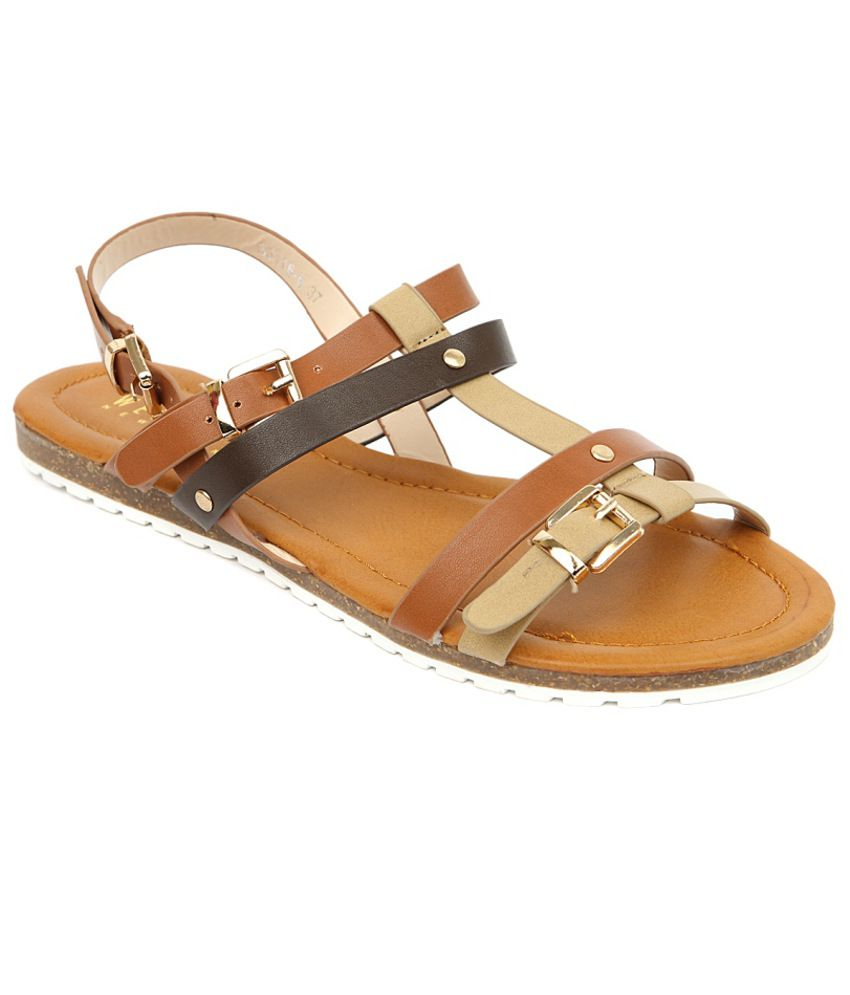 Wet Blue Sophisticated Tan Sandals