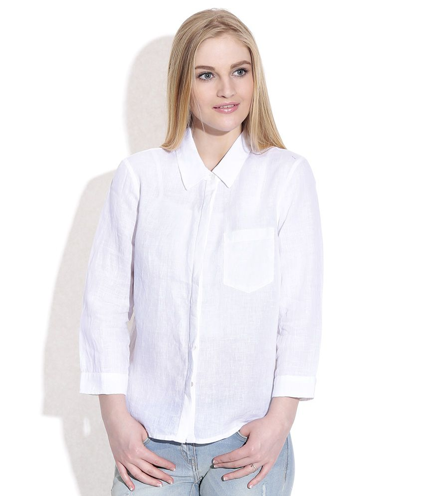 Only White Corporate Wear Shirt