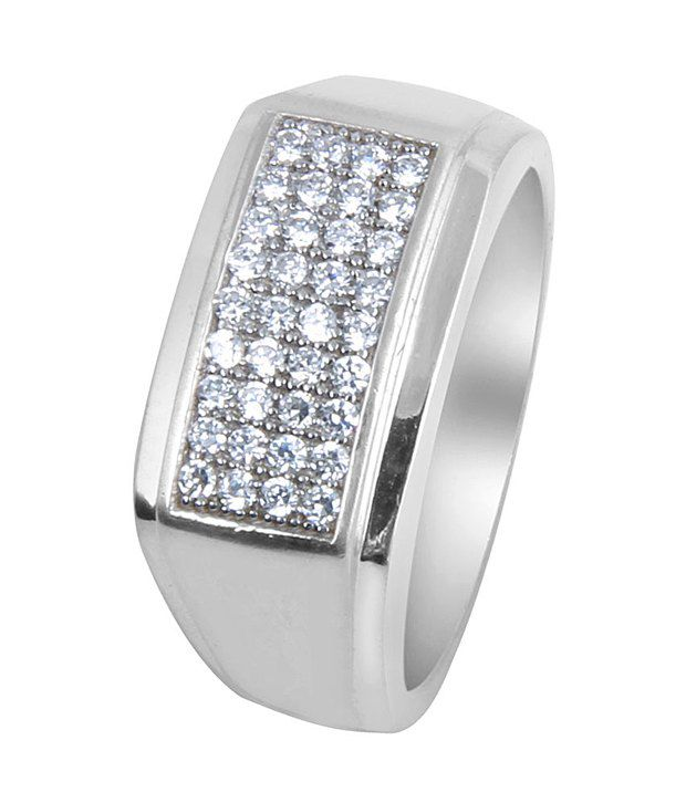 Payalwala 92.5 Sterling Silver Cubic zirconia Contemporary Ring