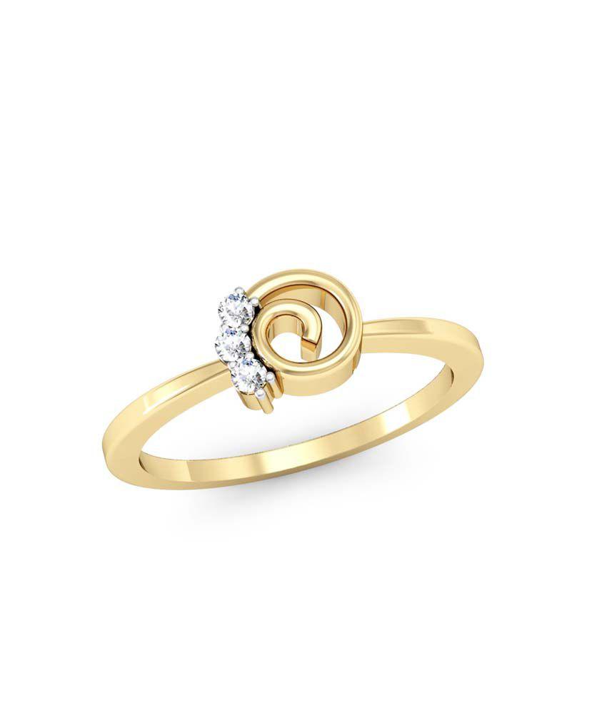 Vachya Stunning Traditional 18Kt Gold Diamond Ring