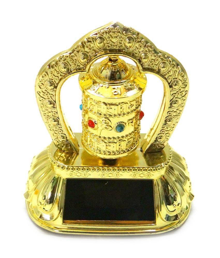 impex solar energy tibetan prayer wheel feng shui dharma wheel om