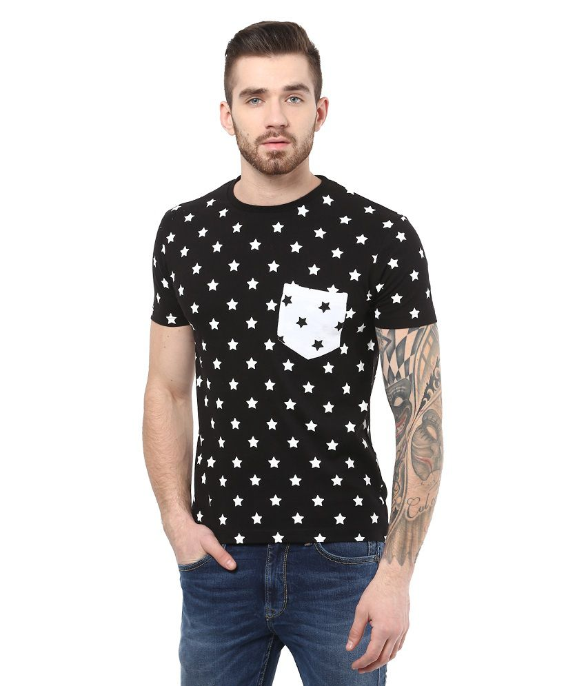 Monteil & Munero Black Cotton Half Sleeve T-shirt