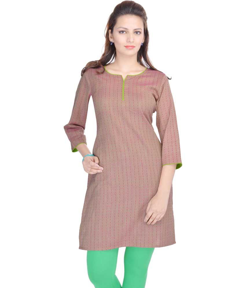 Shop Rajasthan Multicolor Printed Cotton 3/4th Sleeves Kurti