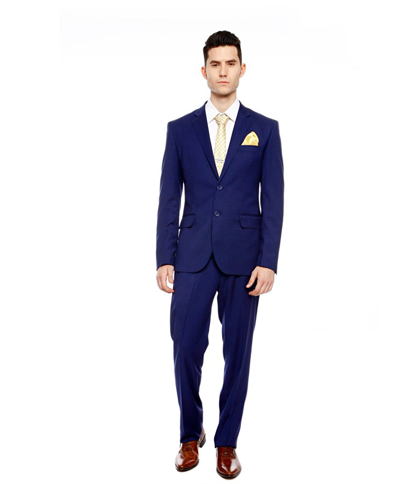 Brahaan BLUE TAG Royal Blue Slim Fit Single-Breasted Formal Suit