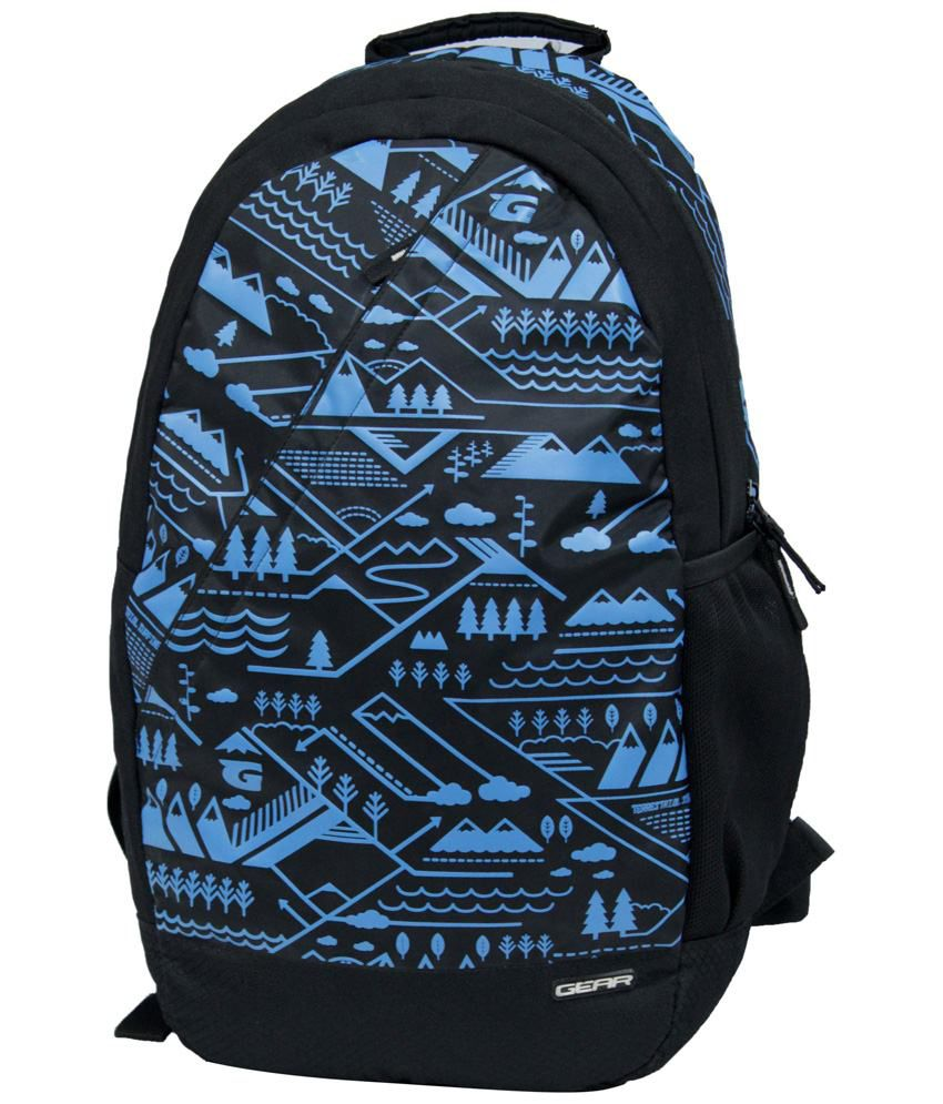 0783c4ee37 Gear Black   Royal Blue Backpack - Buy Gear Black   Royal Blue Backpack  Online at Best Prices in India on Snapdeal