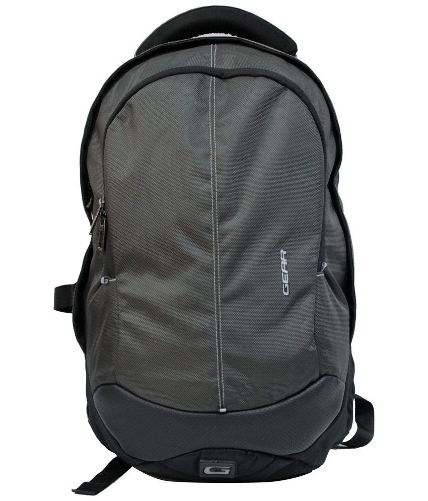 Gear Gray & Black Backpack