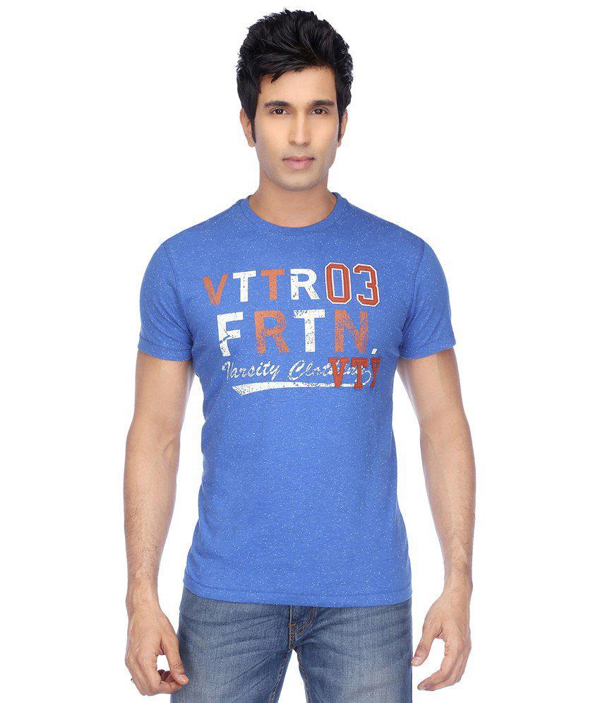 Vettorio Fratini Blue Cotton T-shirt