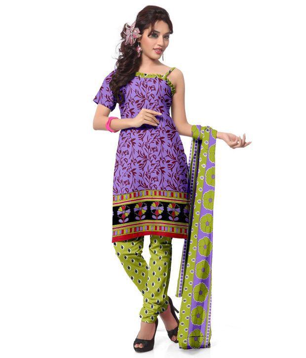 GuruKrupasilkmills unstich cotton printed dress material