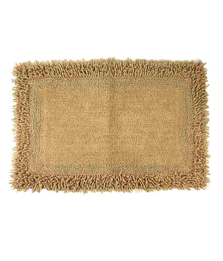 Homefurry Beige Furry Style Buy 2 Get 1 Free Bath Rugs