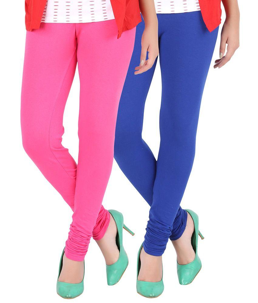 d9bb9182af6b50 Buy Dansik Multi Color Cotton Lycra Fusion Slim Jeggings - Pack of 2 Online  at Best Prices in India - Snapdeal