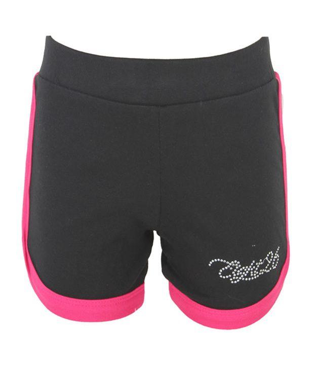 Eight 26 Black Cotton Shorts