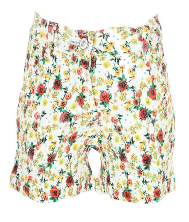 Eight 26 Yellow Cotton Shorts