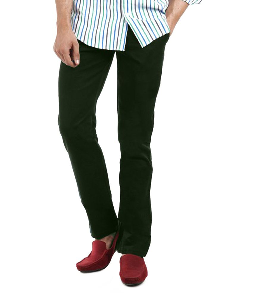 Value Clothing Green Cotton Chinos