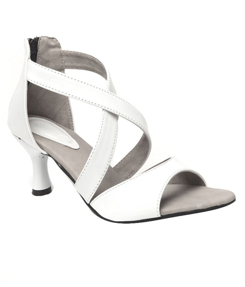 Anand Archies Chic White Heeled Sandals