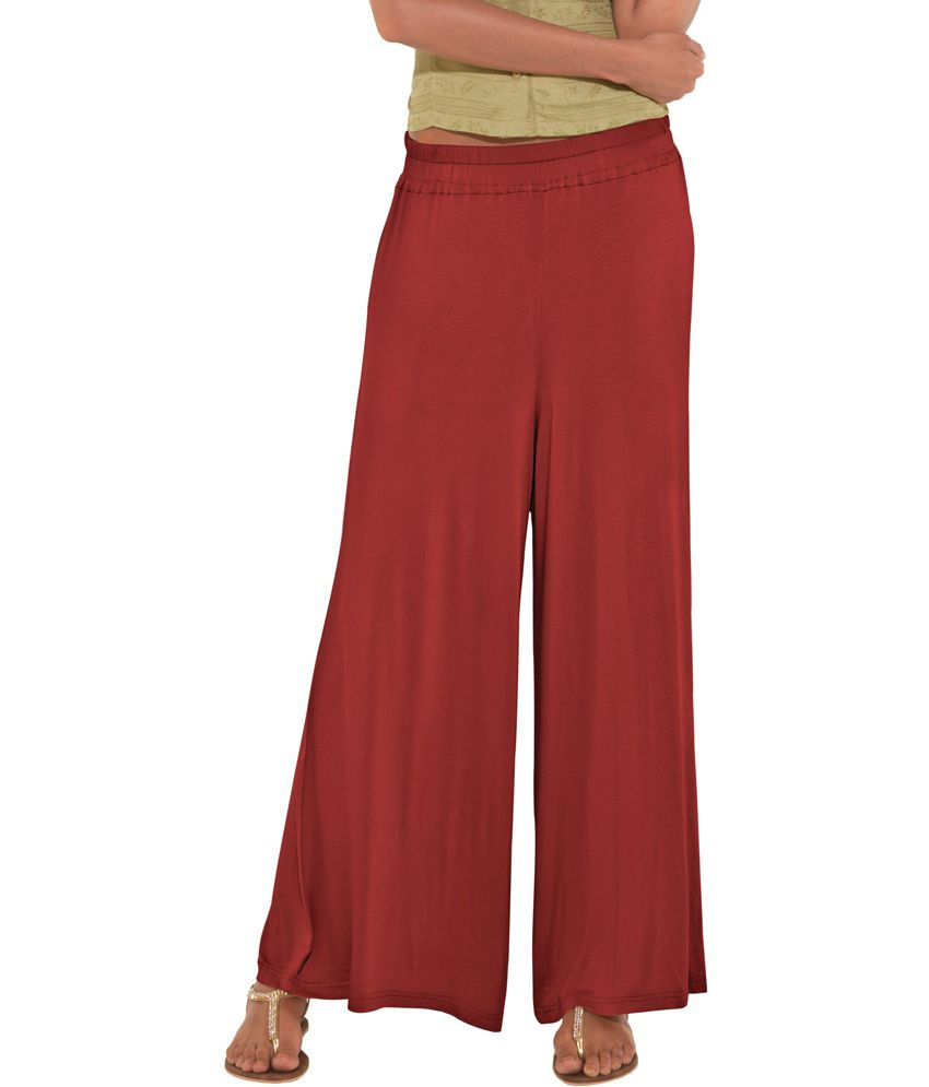 Buy Go Colors Rust Red Short Palazzo Online At Best Prices In India