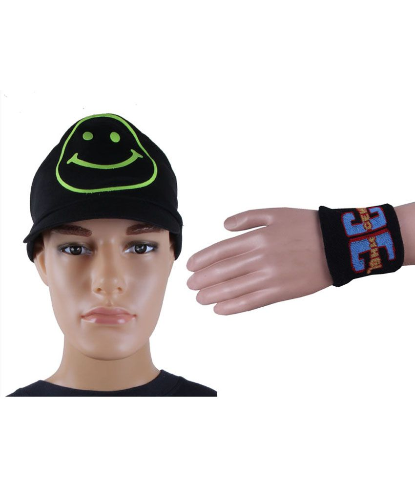 Jstarmart Black Smile Cap with Palm Support