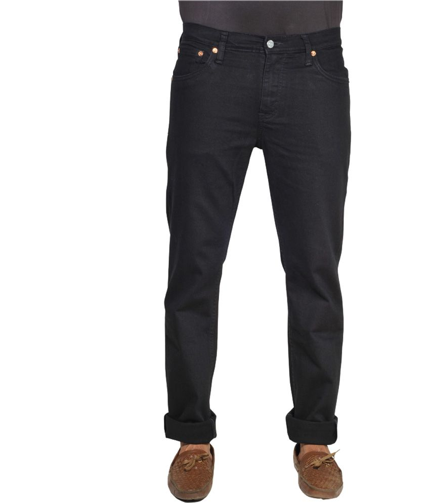 Levis Slim Fit Blue Mens Black Stretchable Jeans