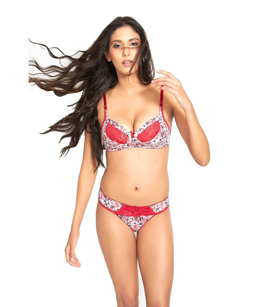 6ec8822679 Buy Lovelady Pink Cotton Printed Bra Panty Set Online at Best Prices in  India - Snapdeal