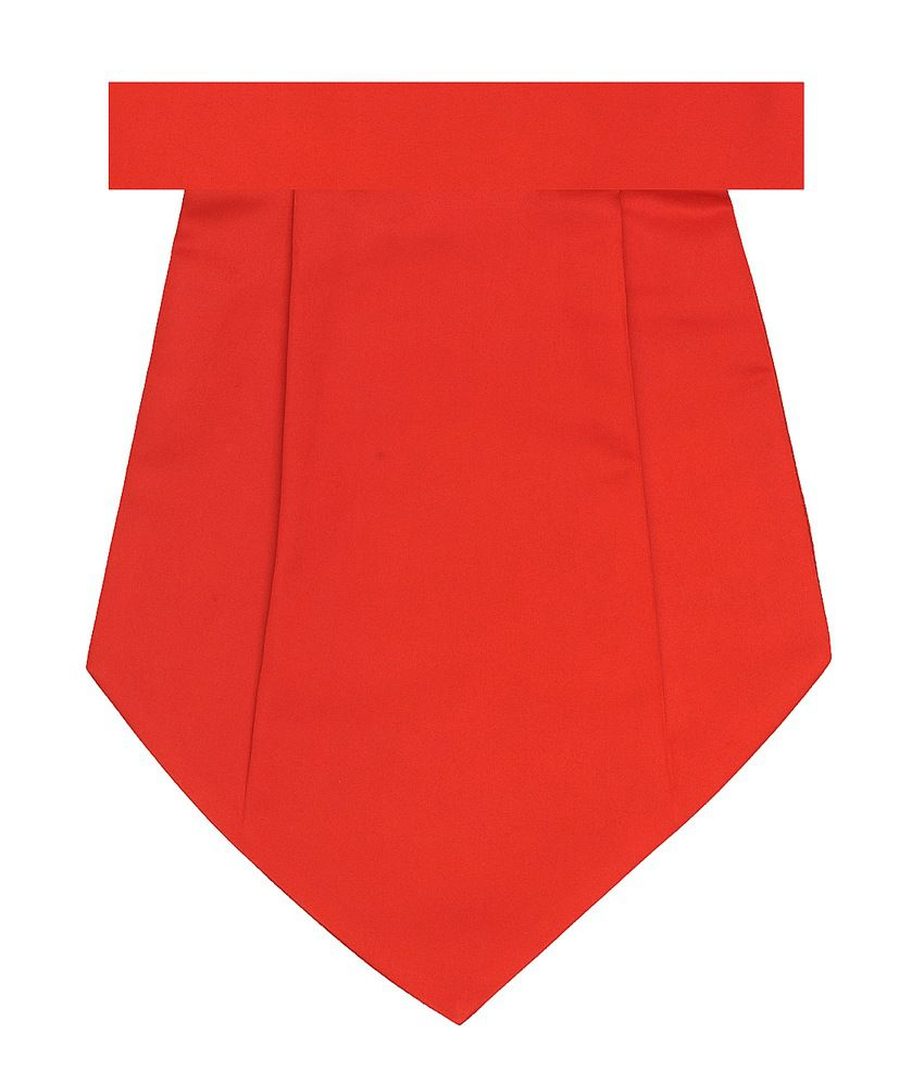 Tiekart Combo of Red Cravat & Pocket Square