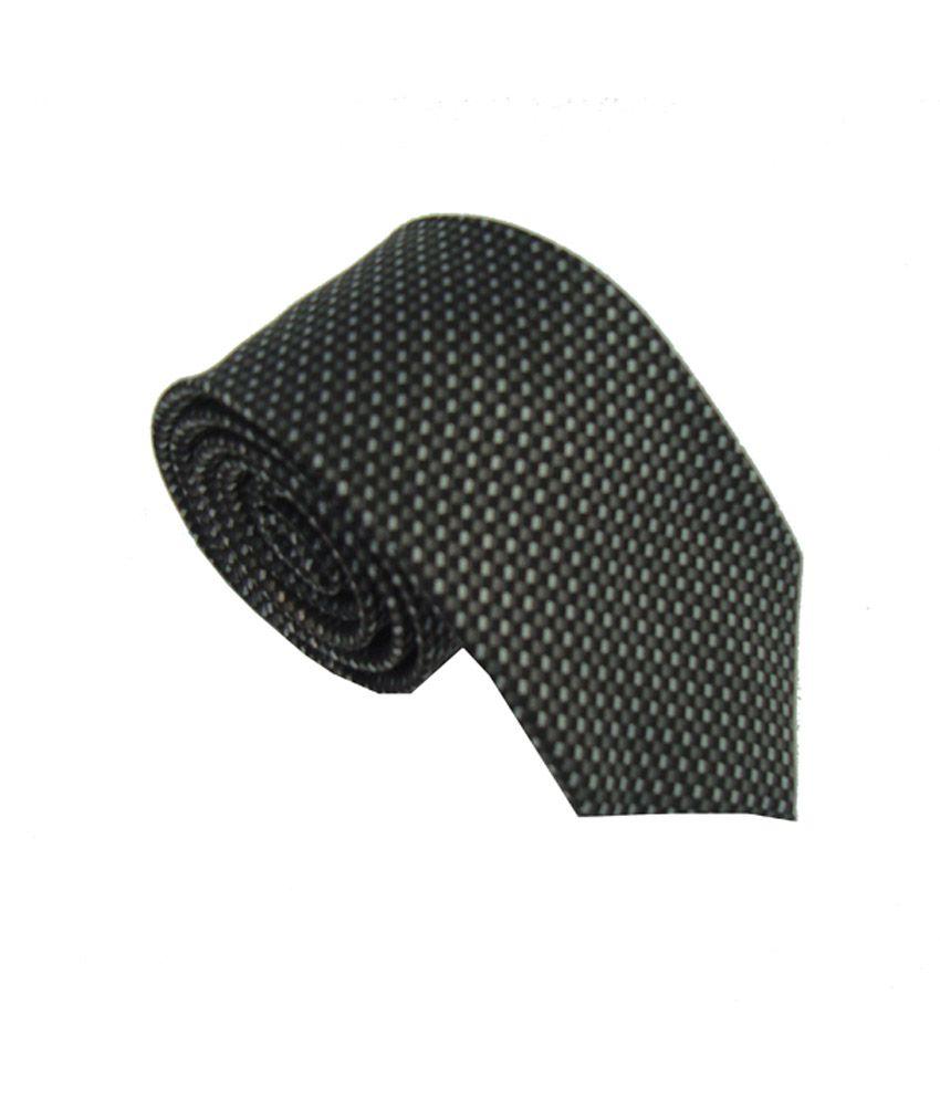 Leonardi Black Micro Fiber Formal Tie