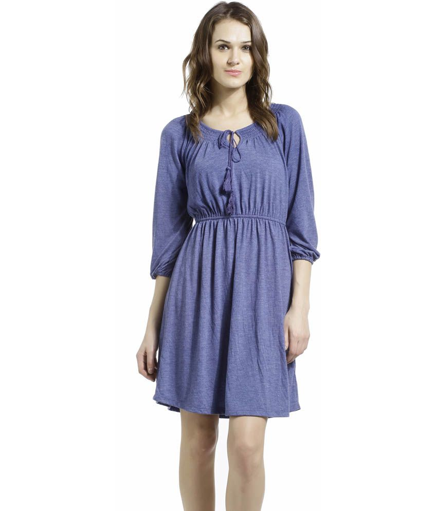 adc1bff0ce8b SbuyS Soothing Blue Melagne One Piece Dress - Buy SbuyS Soothing Blue  Melagne One Piece Dress Online at Best Prices in India on Snapdeal